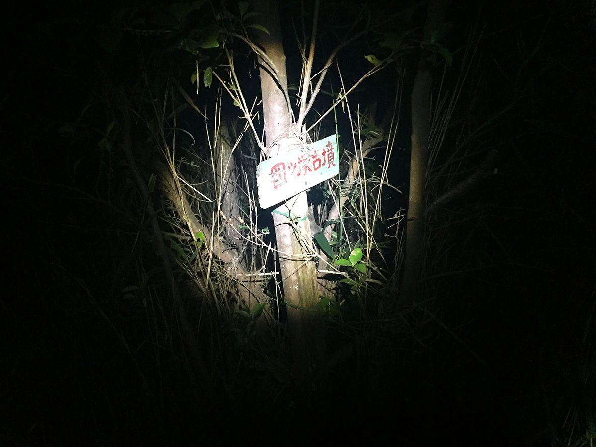 途中で四ツ塚古墳があったけど暗くてわからなかった