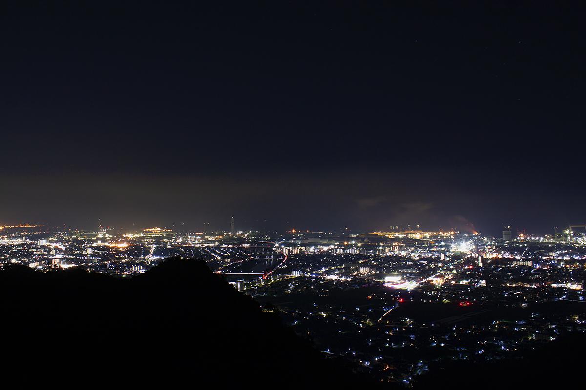 見晴らし台より南側の夜景