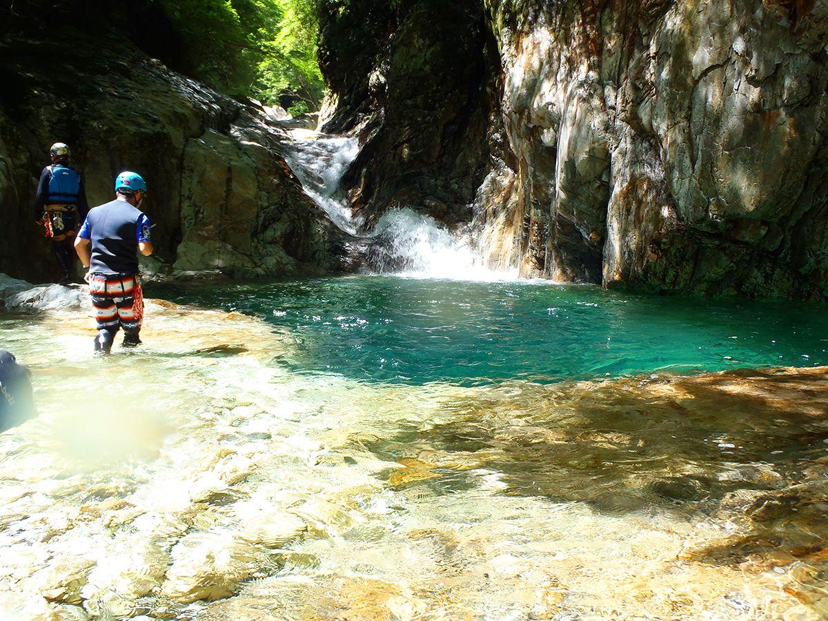 katsuさんが、この滝を登っていった