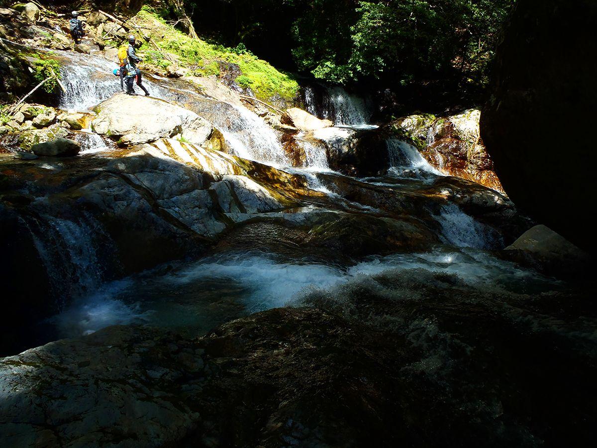 さあ下ります。四方八方の滝地帯は反対側からみると素晴らしい