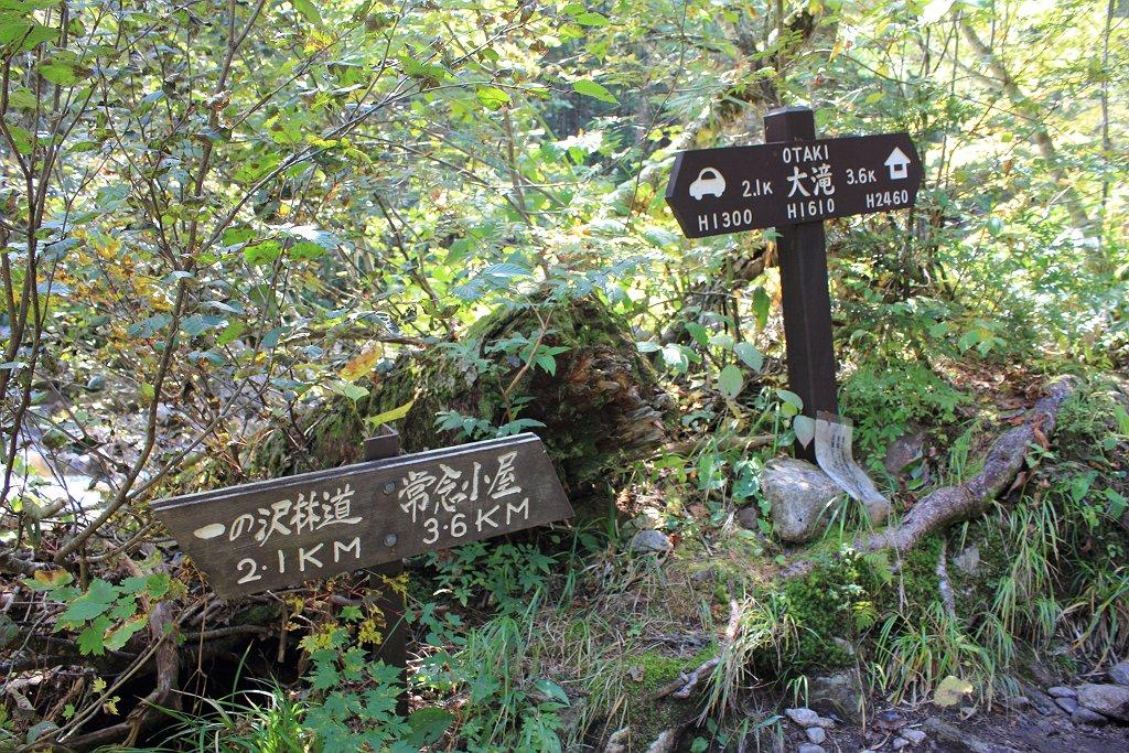 王滝ベンチに到着。大滝と表記されてるけど、地図上は王滝になっていた。どっちでもええんかな!?
