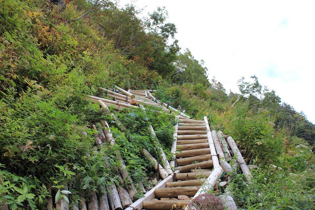 こういう階段を見ると嫌になる^^;