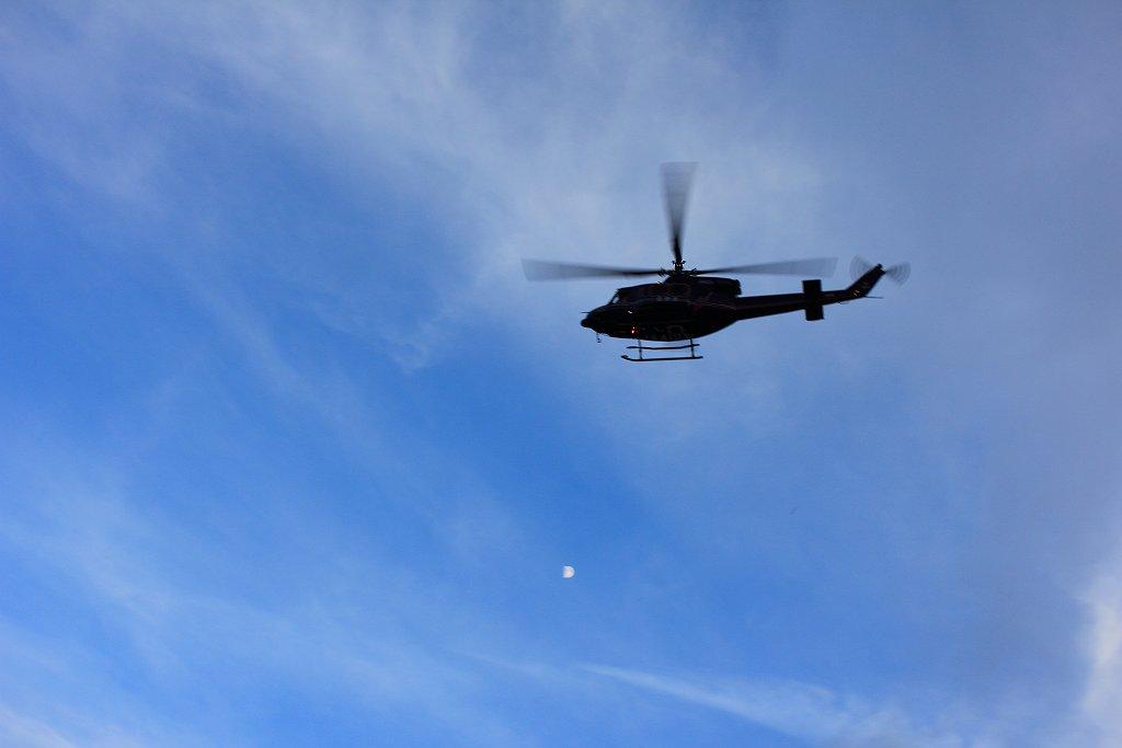 巡回!?ヘリが近くを飛んでいて撮影