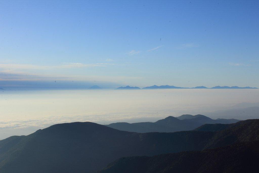 体調悪いけど、富士山、八ヶ岳、南アルプス側が見えたので撮影