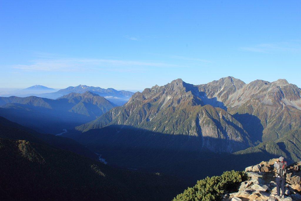 木曽御嶽山、乗鞍岳そして穂高連峰