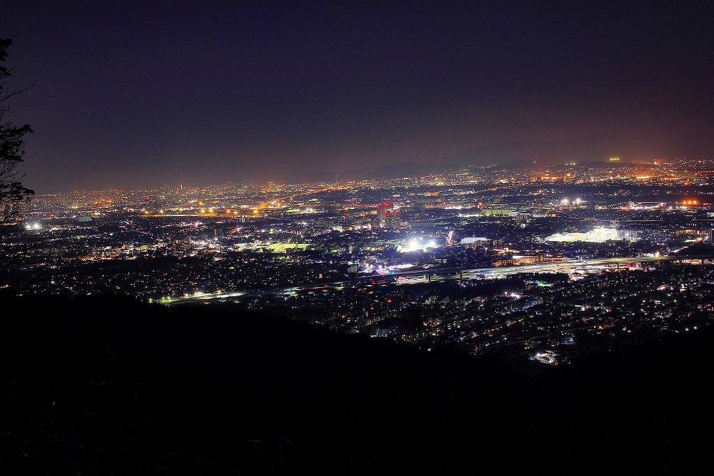 京都市街地側の撮影