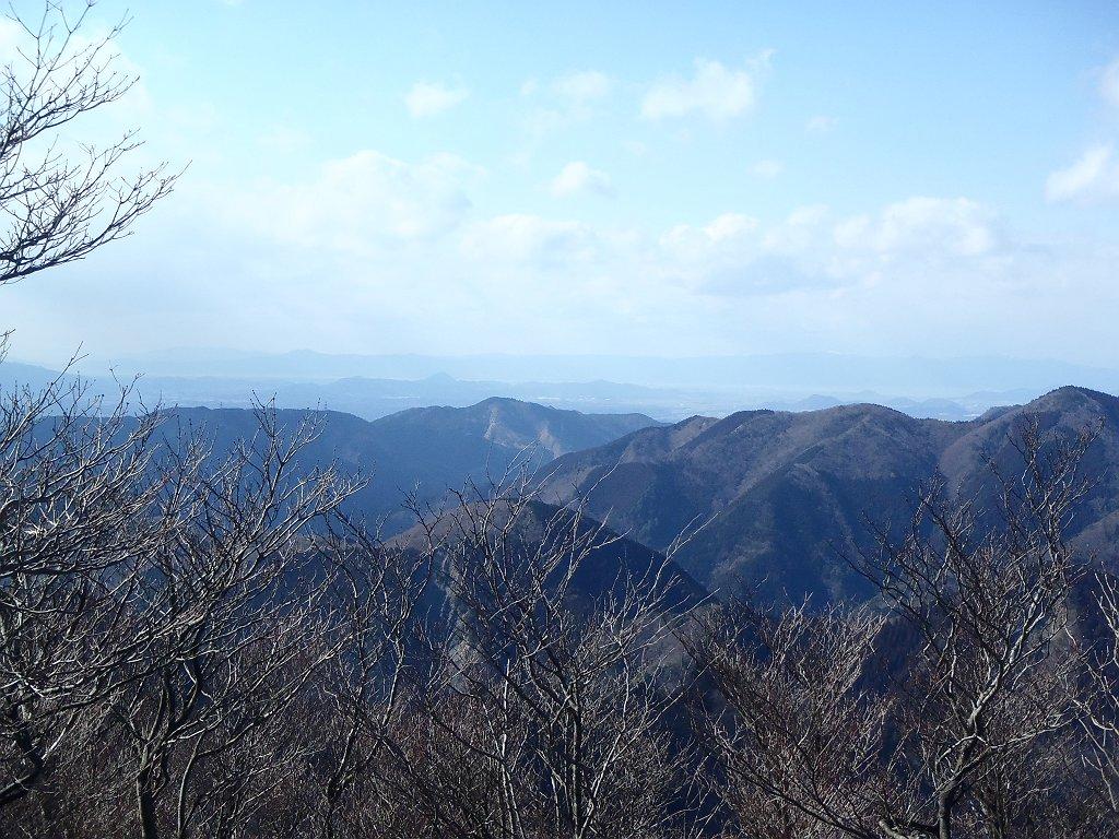 琵琶湖側を見ると三上山(近江富士)まで見えた