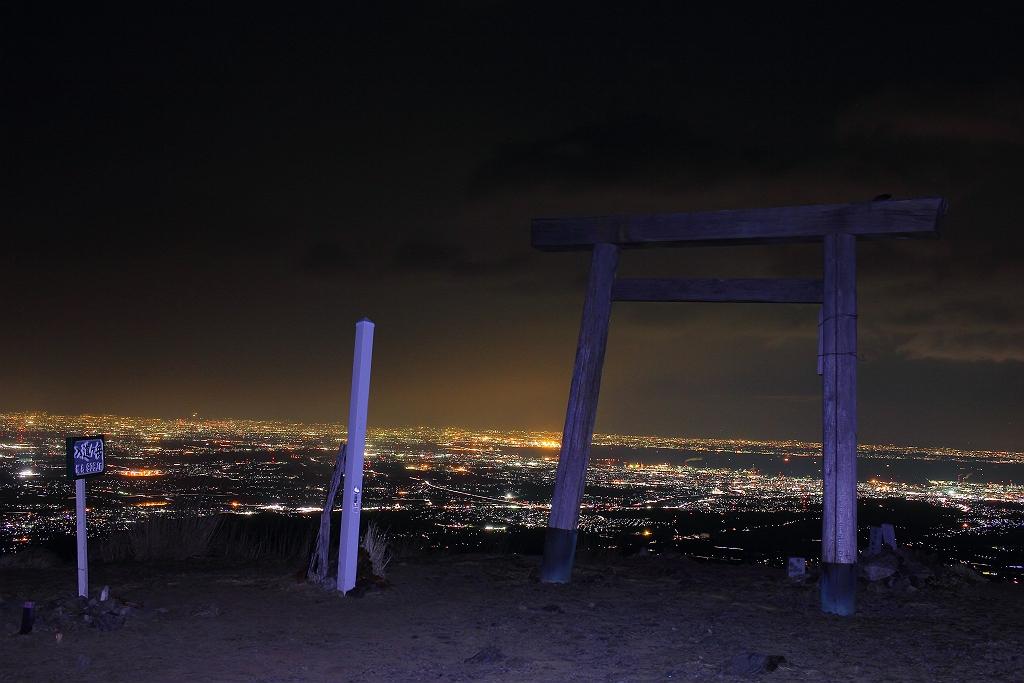 素晴らしい夜景!!!頑張ってきたかいがあった! 入道ヶ岳からの夜景パノラマ画像