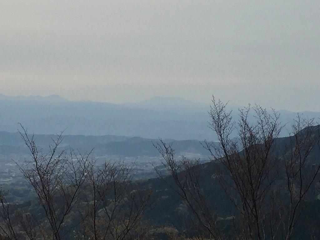 大峰山脈、八経ヶ岳もばっちり