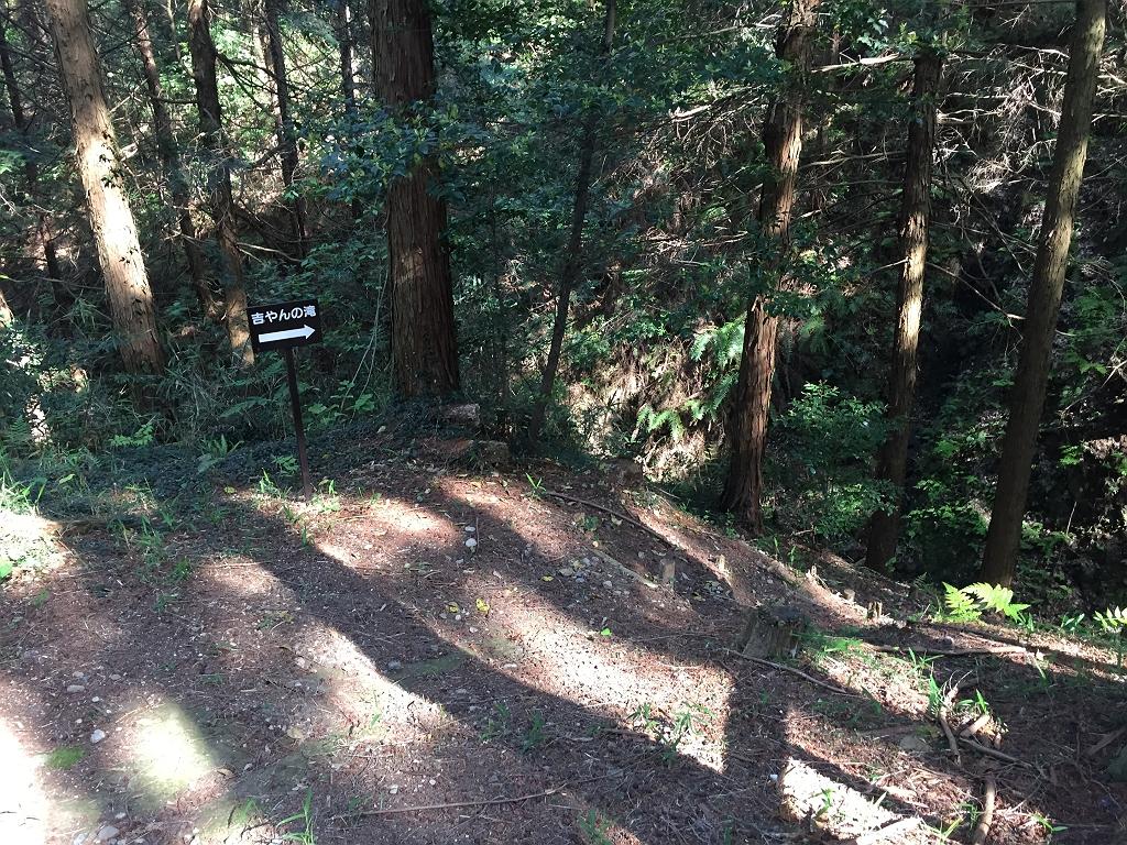 下山途中に「吉やんの滝」って気になるのでいってみた