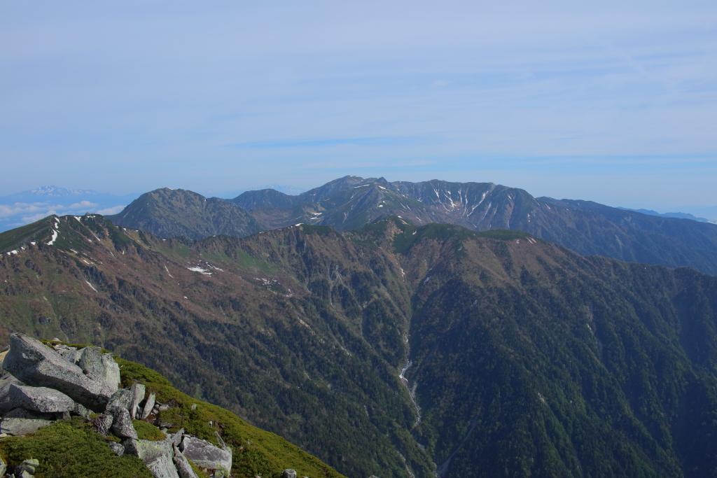 宝剣岳、木曽駒ヶ岳もこの通り