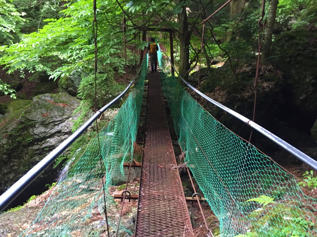 この橋結構揺れる