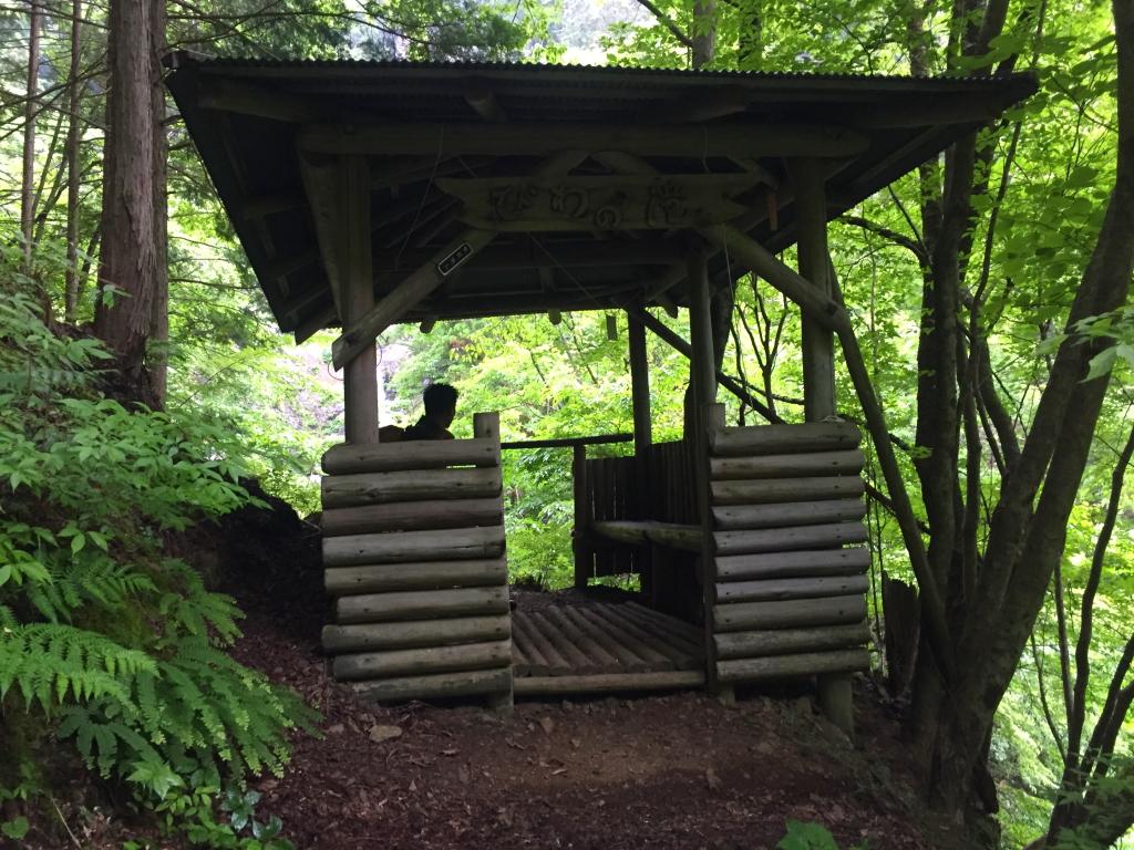 ここが琵琶滝展望台