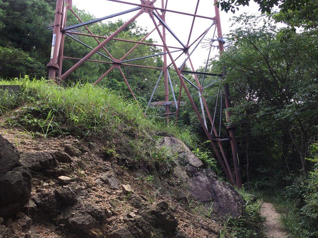 ちょうど観音山との真ん中?になる鉄塔