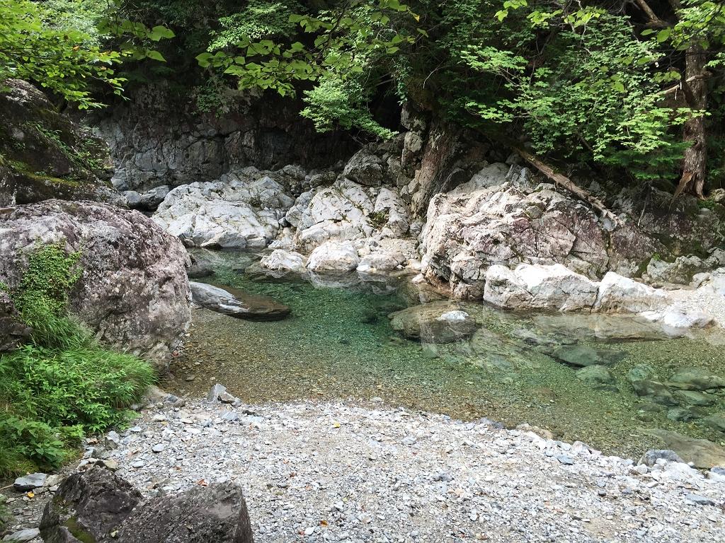 やっぱ弥山川は綺麗だ