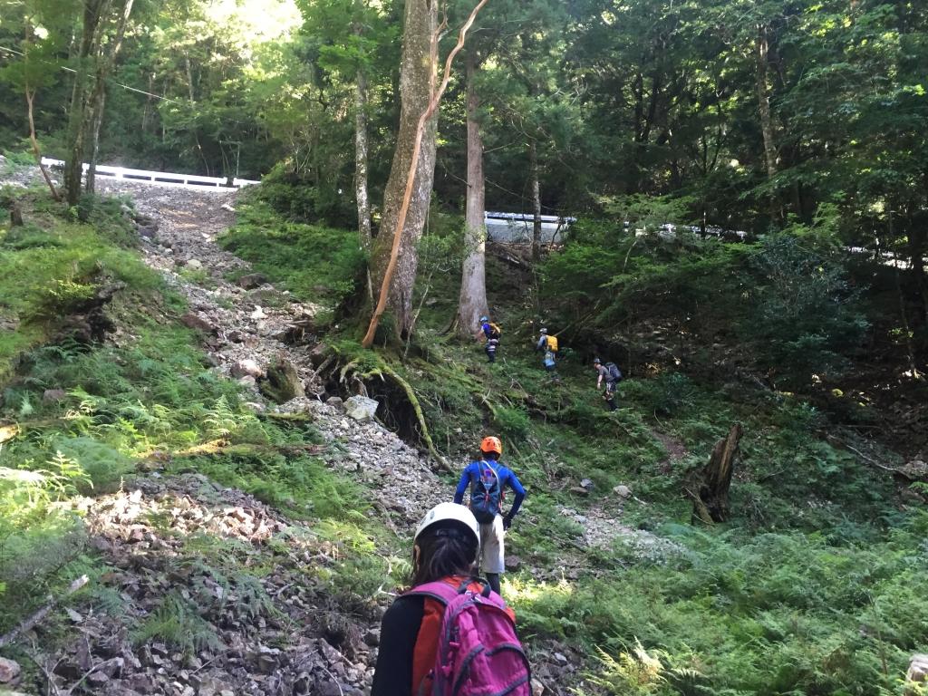 最後の林道までの登りがしんどい