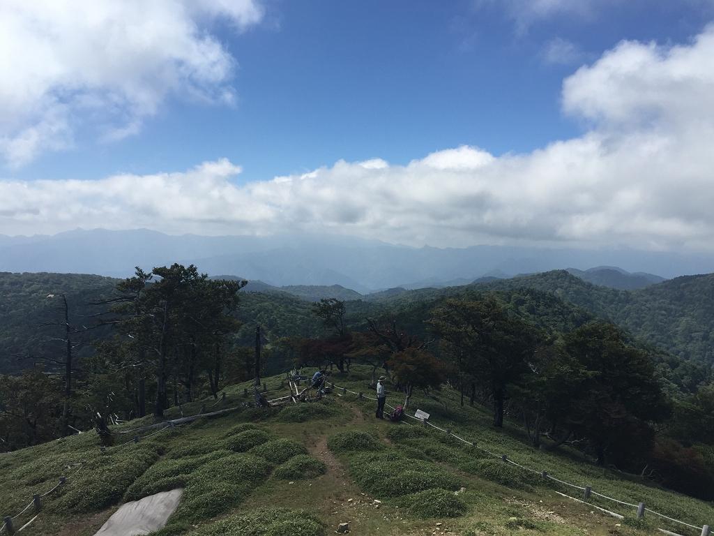 大峰方面は雲に覆われている