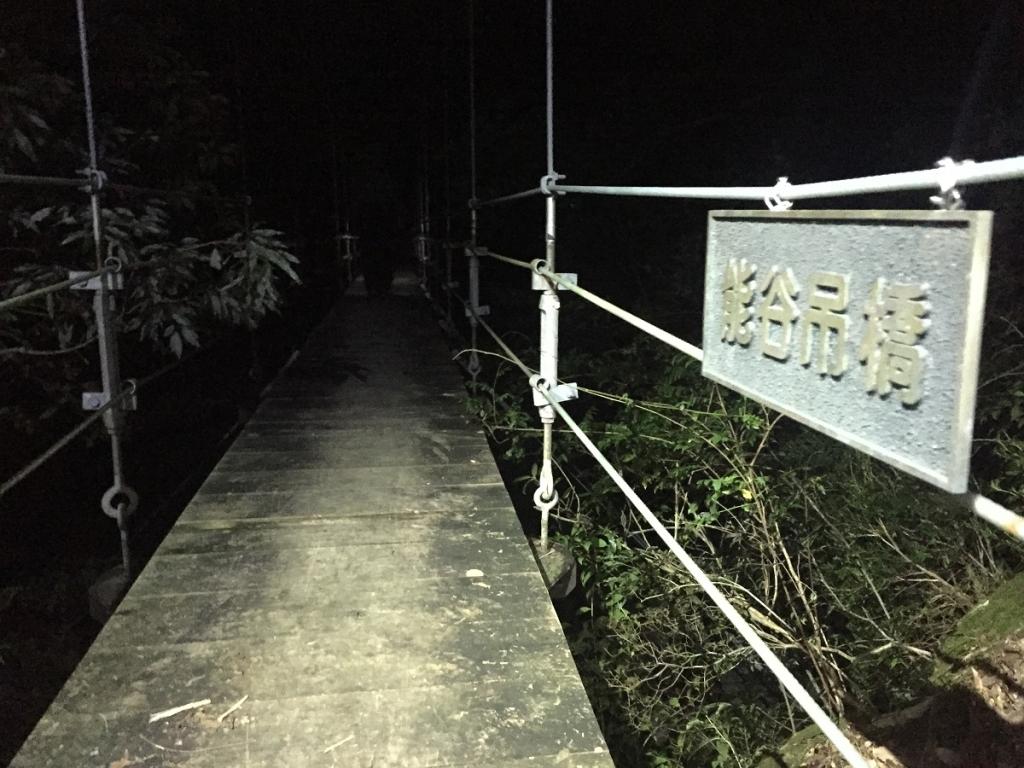 ここのつり橋もわたる。つり橋多いね