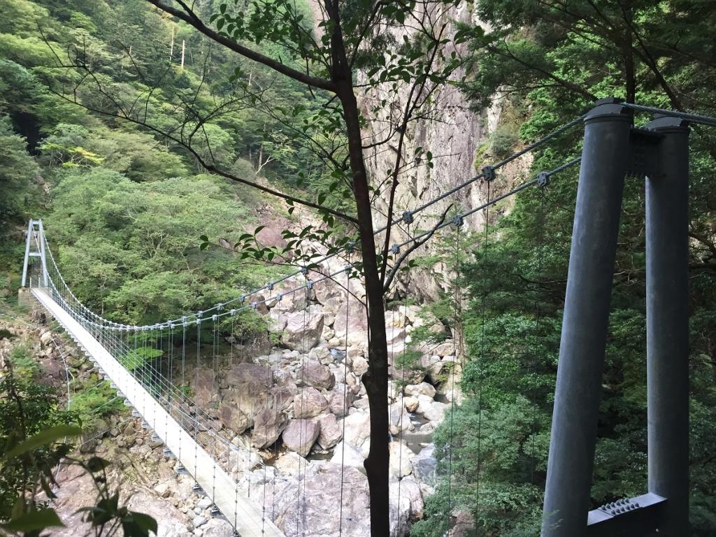 平等嵓吊り橋。すごい高さだ