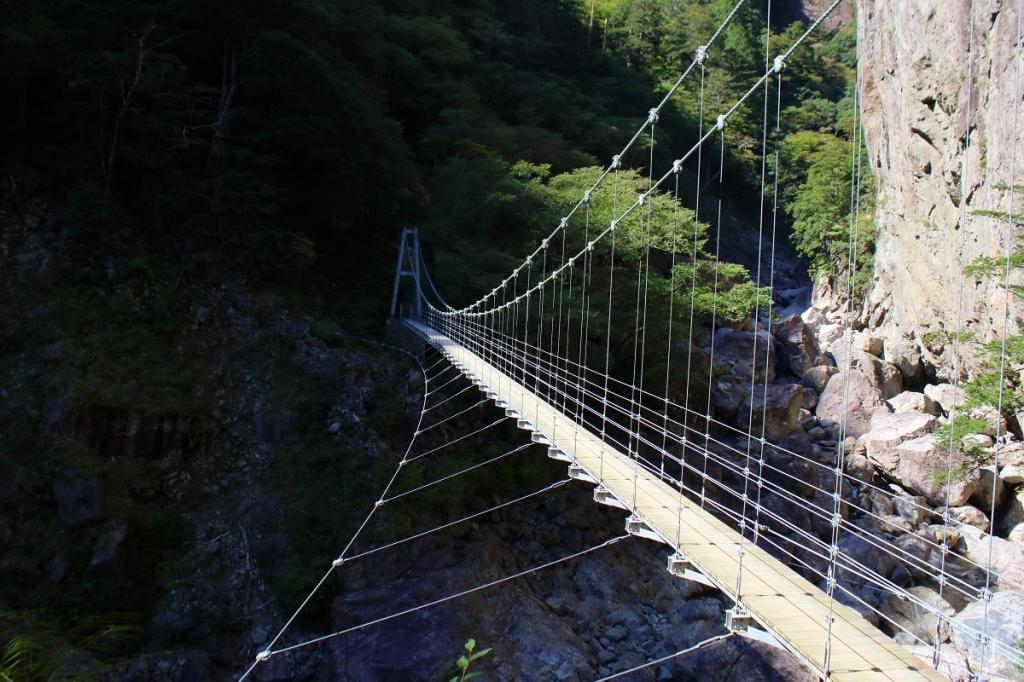 すごい吊り橋だけど、これがなかった時代はどう歩いていたんだろうか!?