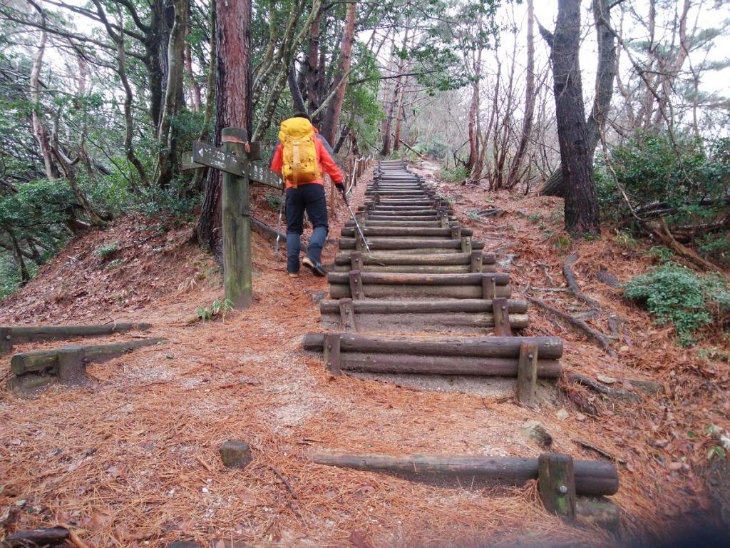 まずはすごい長い階段がまっていた