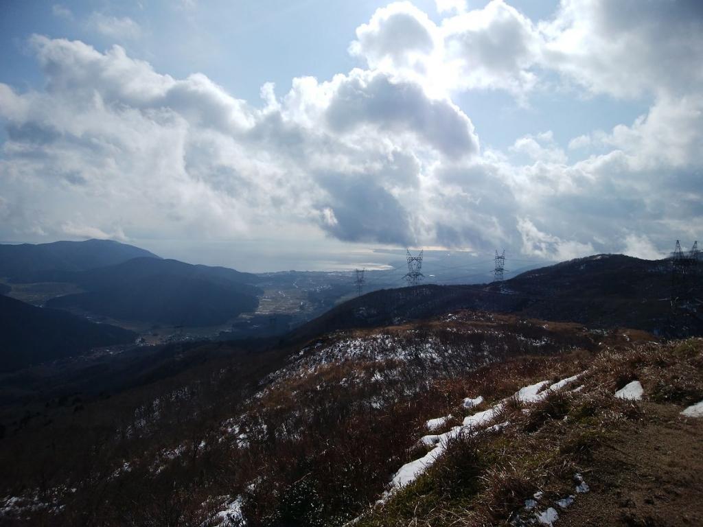 琵琶湖側もガスがはけてよく見えてきた
