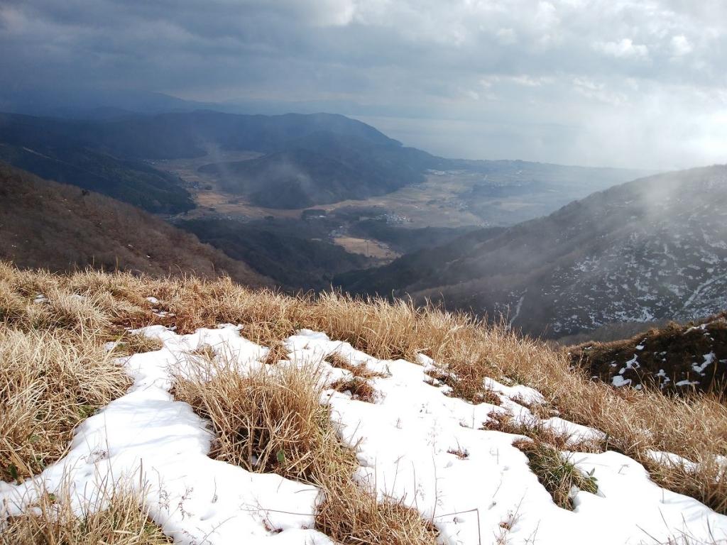 スタート地点のマキノ高原が見えたけど、結構高いところまで登ってきたのね