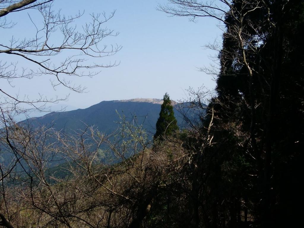 一か所、大和葛城山がよく見えるところがあった