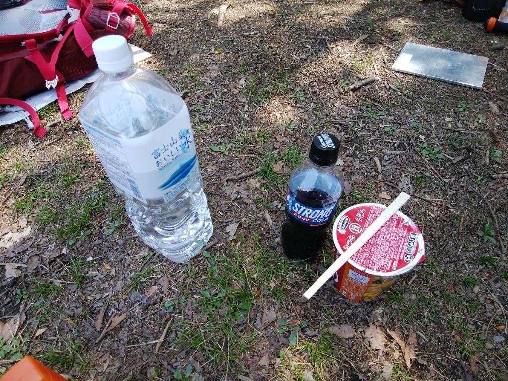 今日の昼飯。ちなみにコーラーが飲みたくて売店で買ったけど山プライスだった