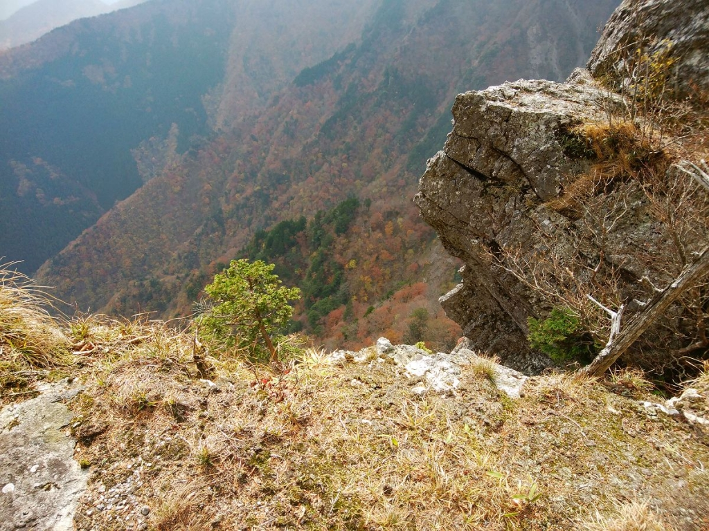 写真では伝わらないけど、結構な断崖絶壁。かなりの高度感がある