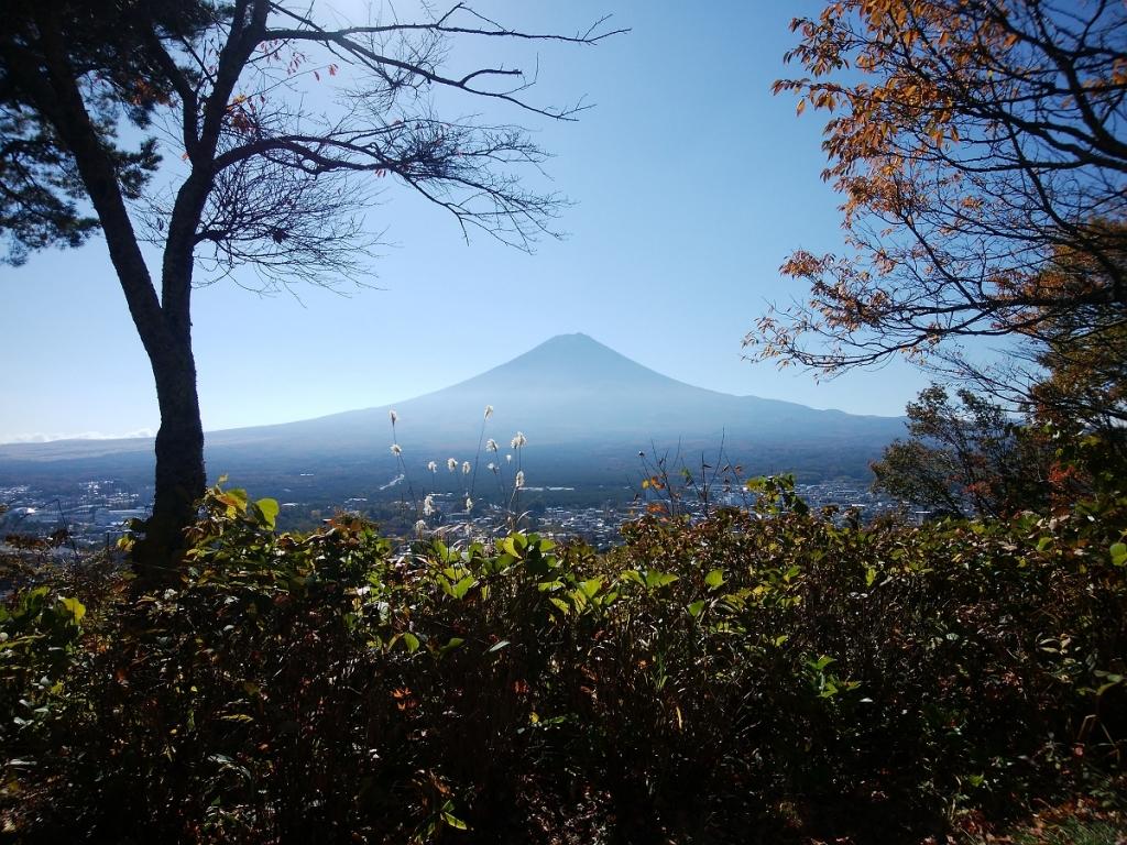富士山もこの通り。晴天で雲一つなく素晴らしい!