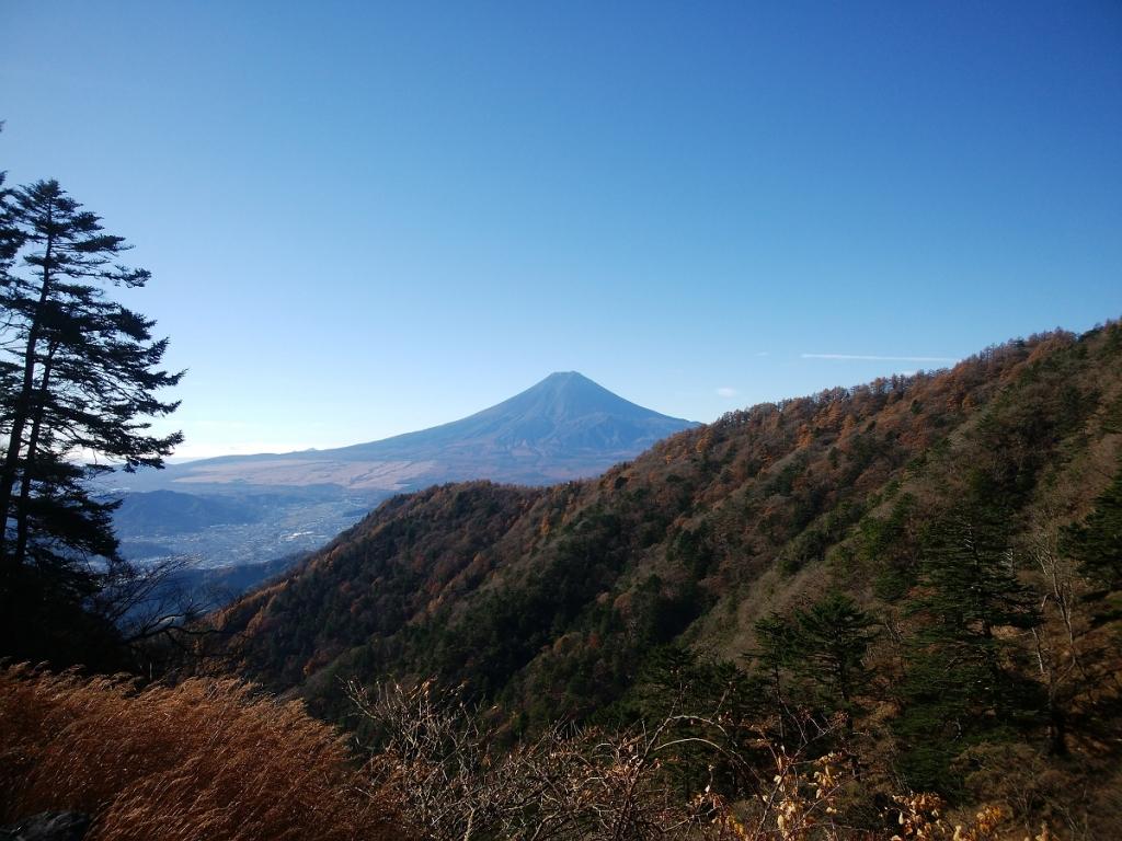 二日目にしても雲一つない晴天で富士山を眺める