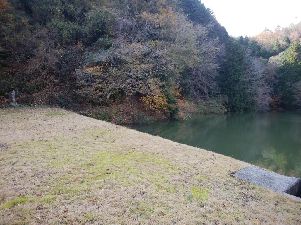 池の左側のルートをとる