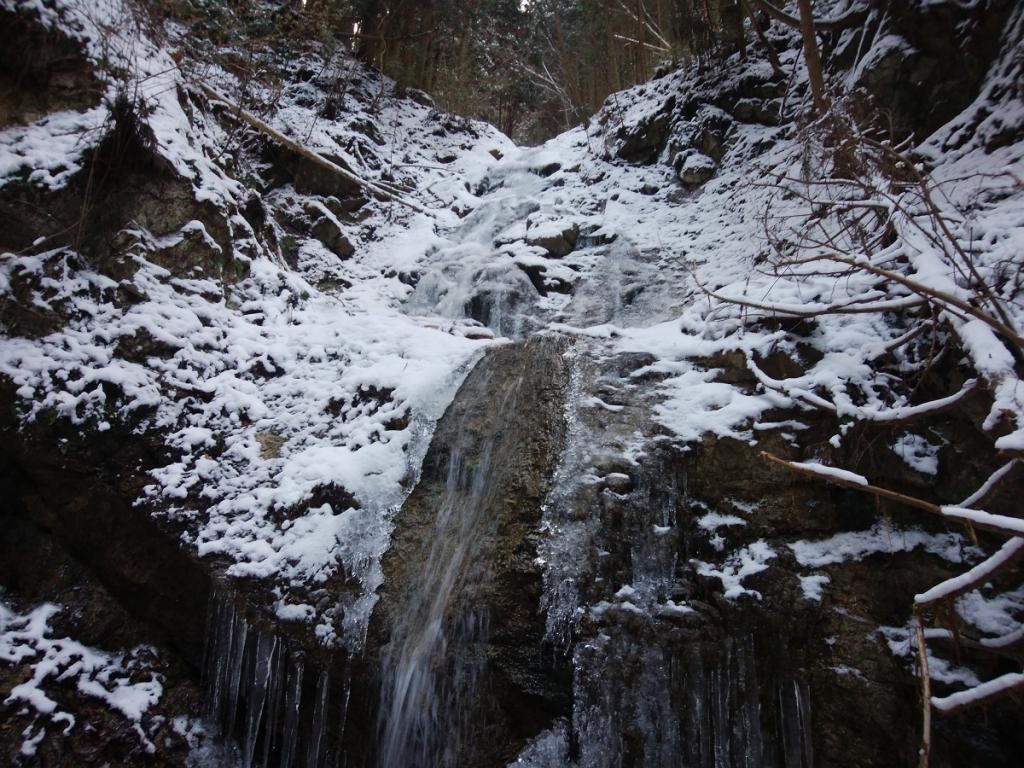 一の滝かな!?氷瀑になっていた