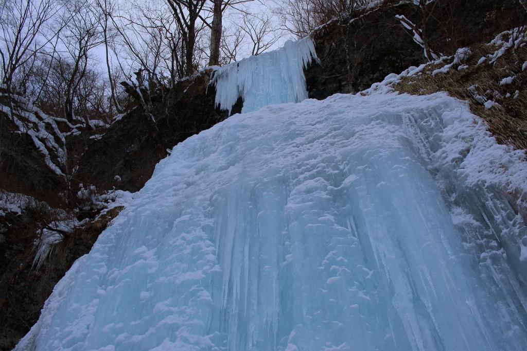 見事な氷瀑