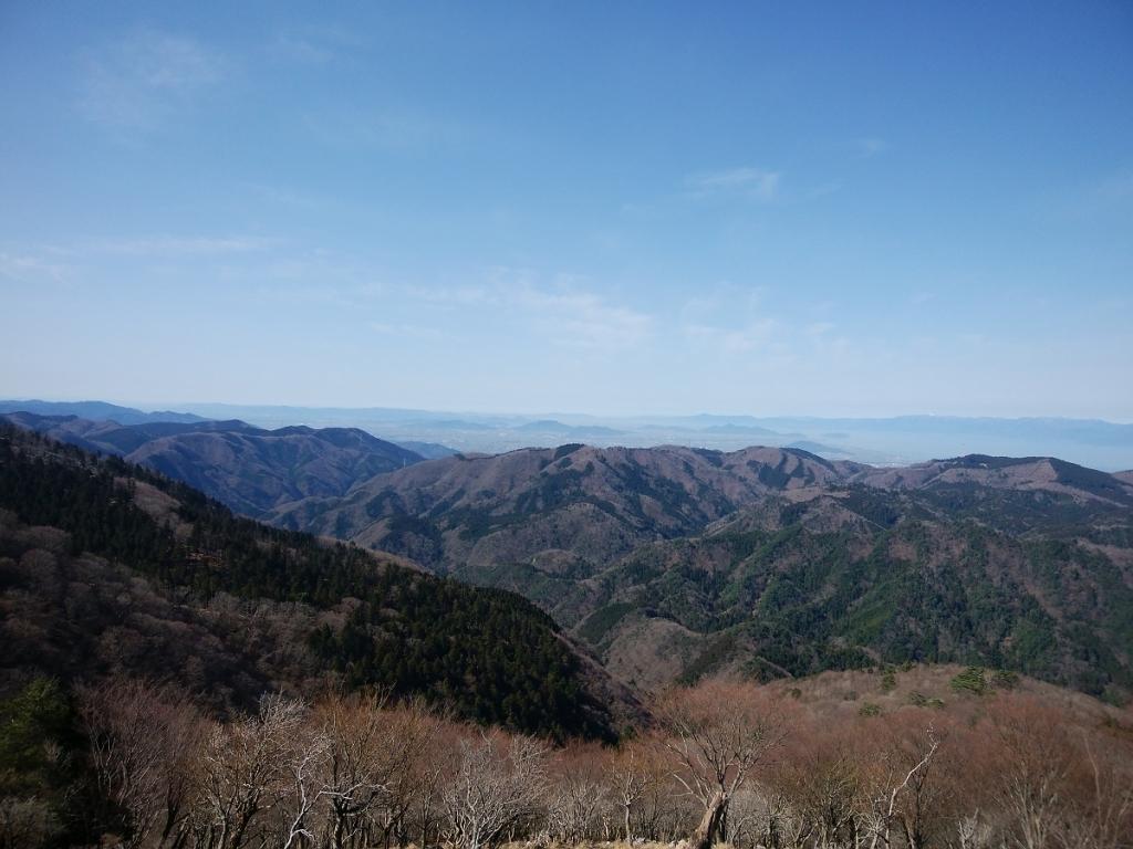 南部の景色。今日はどこまでも見える。素晴らしい