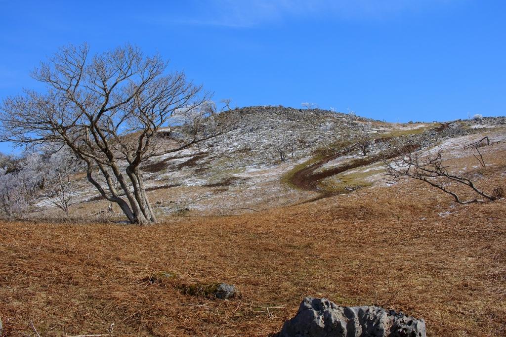 少し残ってる雪と岩がまた格別なんですな