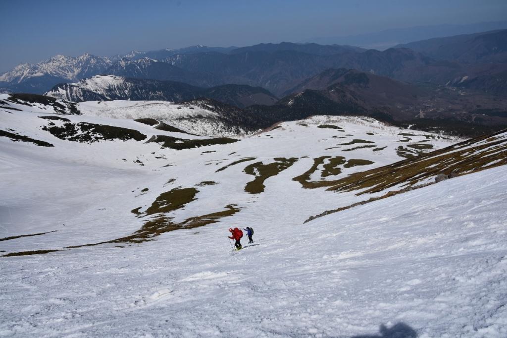 スキーで滑走するシーン。よく撮影してくれました。頂いた画像3