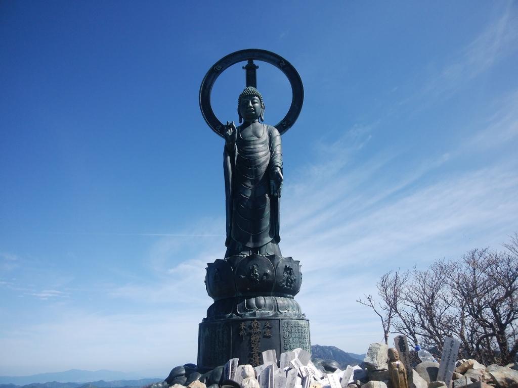 数年ぶりの釈迦ヶ岳に到着