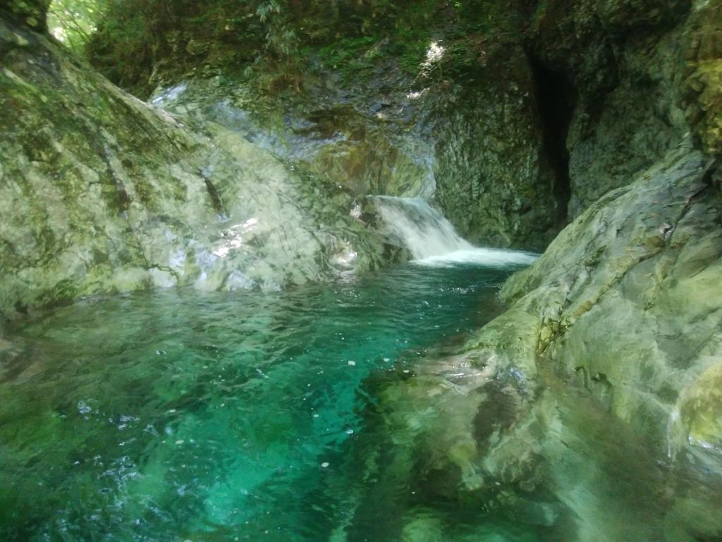 赤鍋滝上部の神秘的な光景