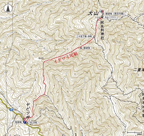 大山・ヤビツ峠地図