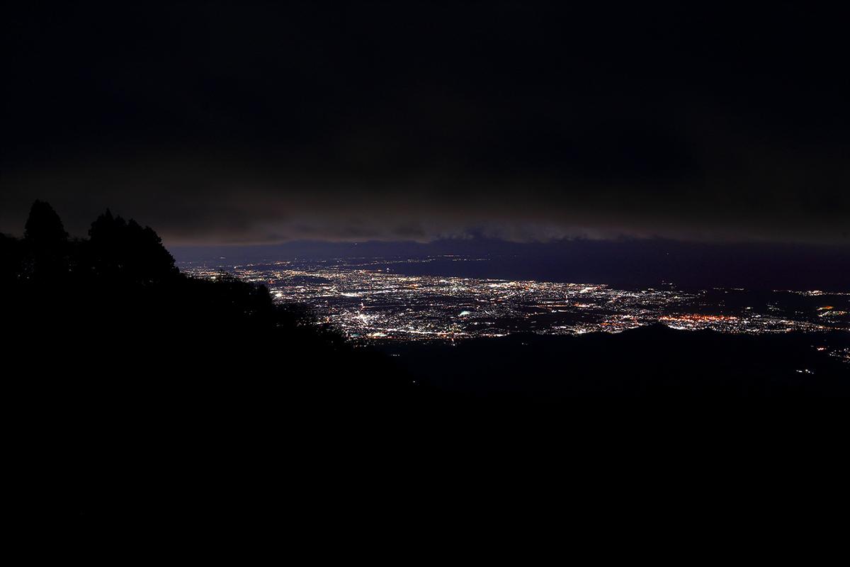 イタツミ尾根途中からの夜景2
