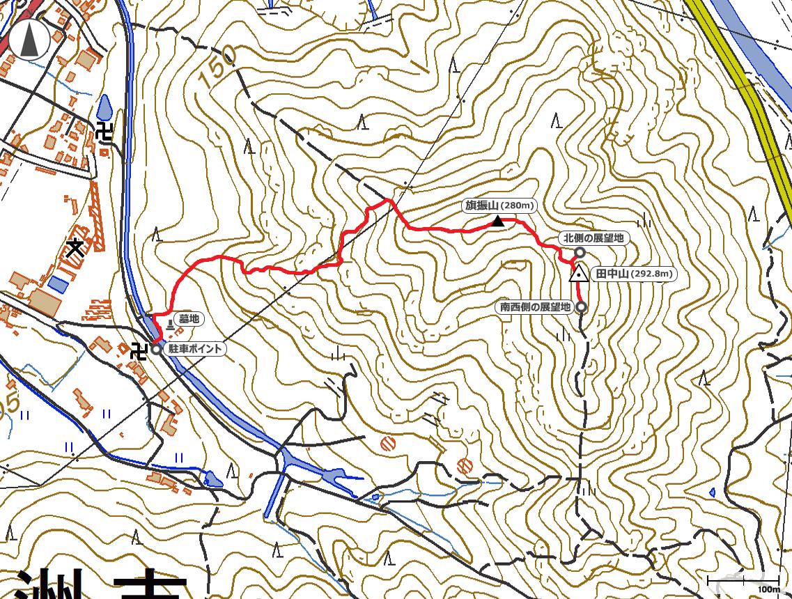 田中山地図