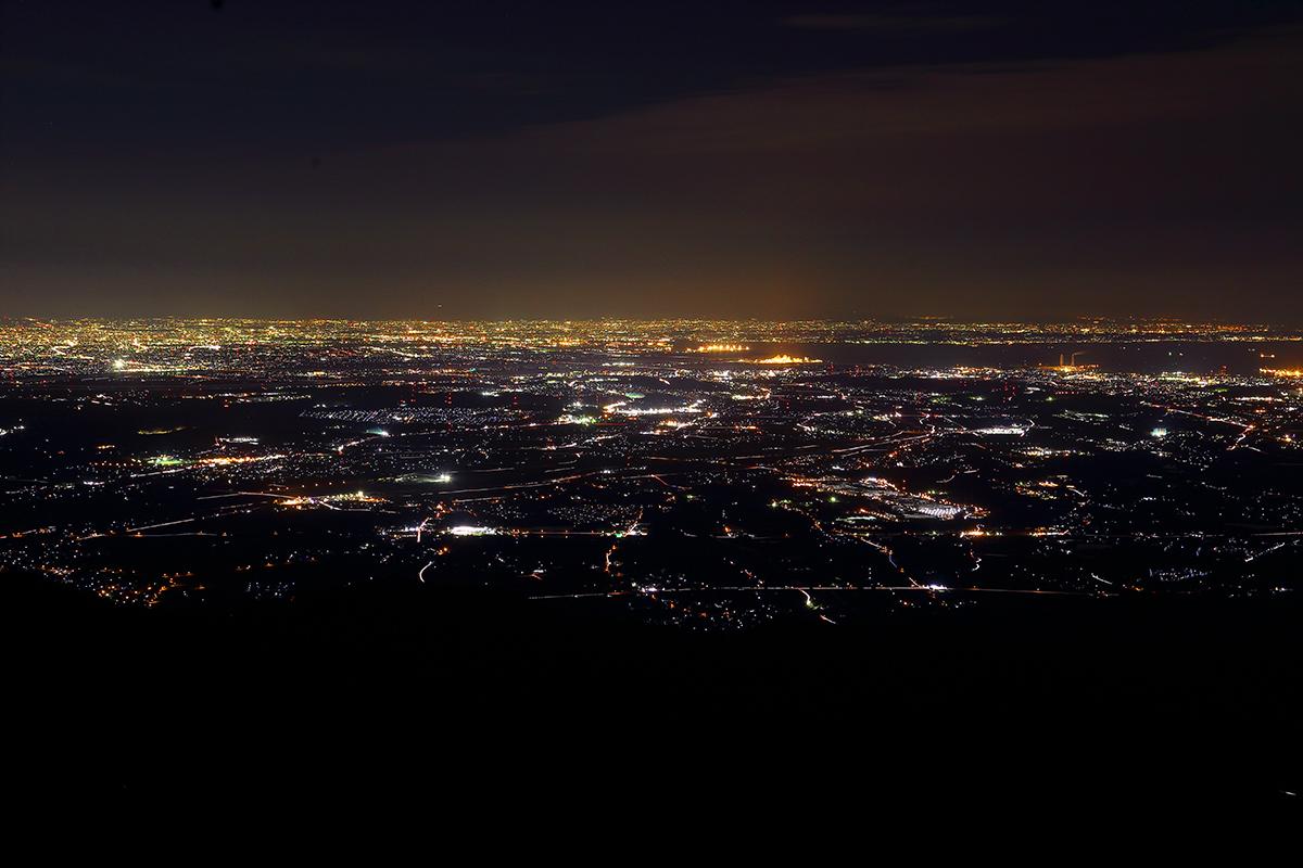 竜ヶ岳夜景2